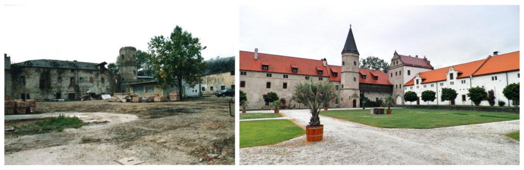 Zámek před a po rekonstrukci