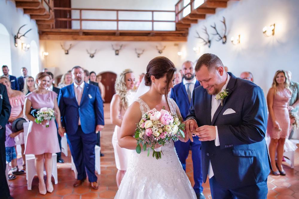 Svatební obřad v Rytířském sále